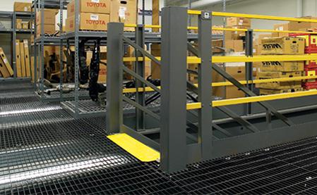 auto dealer mezzanine with bar grating bar grate mezzanine floor